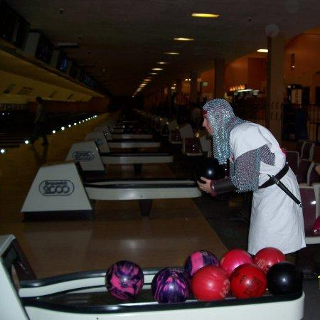 funny bowling in armor